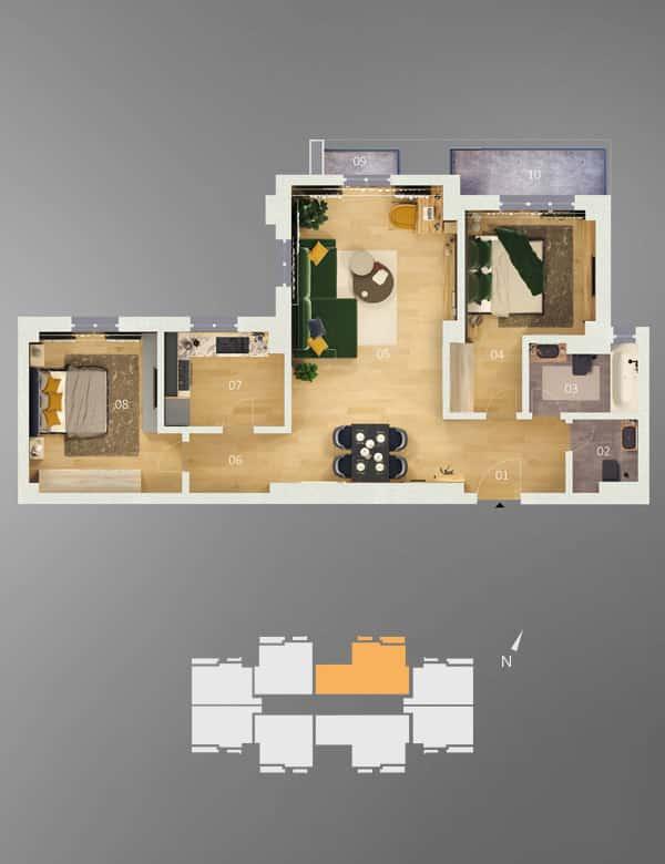 apartamente 3 camere de vanzare constanta